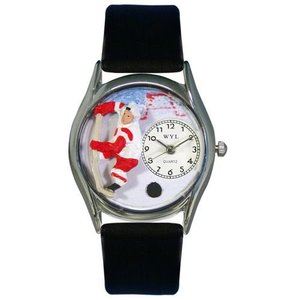 WHIMS-S0820002 Whimsical Watches Women's S0820002 Hockey Black Leather Watch|abareusagi-usa