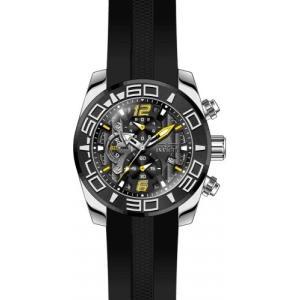 22809 Invicta Men's Pro Diver Stainless Steel Quartz Watch with Silicone Strap, Black, 25 (Model: 22809) abareusagi-usa