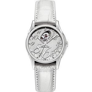 H32465953 Hamilton Women's H32465953 Jazzmaster White with Skeleton Display Dial Watch abareusagi-usa
