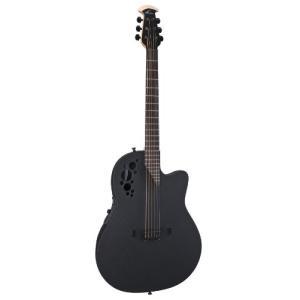 1868TX-5 6 String Ovation Mod TX Collection Acoustic-Electric Guitar, Textured Black, Super Shallow Body (1868TX-5) abareusagi-usa