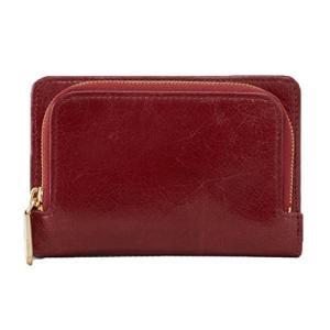 TN-1205914 Hobo Women's Leather Loral Compact Bifold Wallet (Mahogany)|abareusagi-usa