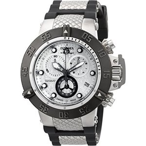 90115 Invicta Men's Subaqua Quartz Watch with Stainless-Steel Strap, Silver, 29 (Model: 90115) abareusagi-usa