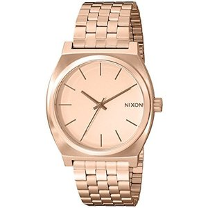 A045897 OS NIXON Time Teller A081 - All Rose Gold - 136M Water Resistant Men's Analog Fashion Watch (37mm Watch Face, 19.5mm-18mm|abareusagi-usa