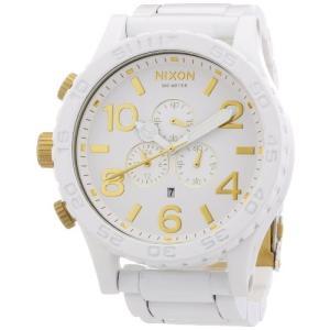 A0831035-00 51-30 Nixon A0831035-00 Chrono Leather White Watch|abareusagi-usa