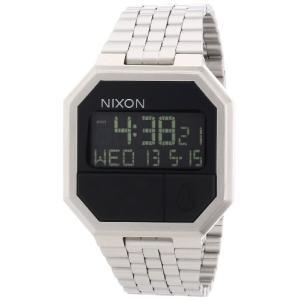 A158000-00 Nixon Re-Run Black Dial Stainless Steel Mens Watch A158000-00|abareusagi-usa
