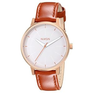 A1081045 One Size NIXON Kensington Leather A108 - Rose Gold/White - 50m Water Resistant Women's Analog Classic Watch (37mm Watch F|abareusagi-usa