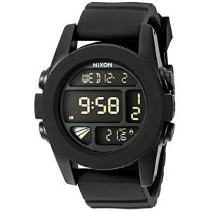 A197-000 One Size NIXON Unit A197 - Black - 100m Water Resistant Men's Digital Sport Watch (44mm Watch Face, 24mm Pu/Rubber/Silico|abareusagi-usa