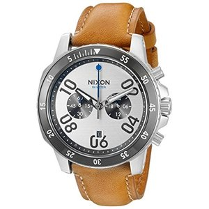 A9402092-00 One Size Nixon Men's A9402092-00 Ranger Chrono Leather Analog Display Quartz Brown Watch|abareusagi-usa