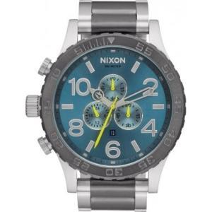 Nixon A083-2304 Mens 51-30 Silver Steel Bracelet Chronograph Watch|abareusagi-usa