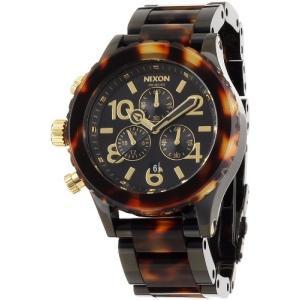 NA037679-00 Nixon - 42-20 Chrono - All Black / Tortoise watch|abareusagi-usa