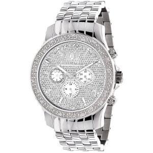 Raptor LUXURMAN Mens Real Diamond Watch 0.25ct|abareusagi-usa