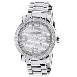 Phantom LUXURMAN Mens Diamond Watch 0.12 ct|abareusagi-usa