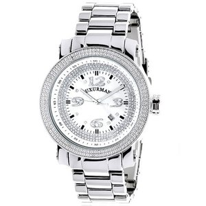 6.40E+11 Mens Diamond Watch 0.12 ct Iced Out LUXURMAN|abareusagi-usa