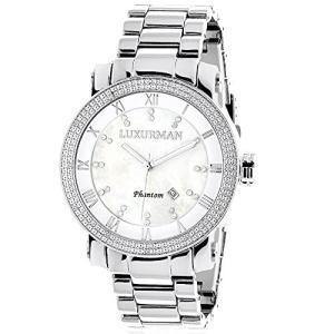 6.40E+11 Mens Diamond Watch 0.12ctw of Diamonds by Luxurman|abareusagi-usa