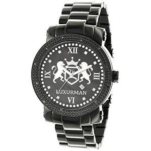 Phantom Designer LargePhantom Black Diamond Watch for Men 0.12ctw of Diamonds by Luxurman|abareusagi-usa