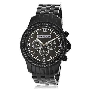 2278 Mens Black Diamond Watch by LUXURMAN 2.25ct|abareusagi-usa