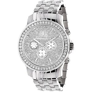 Raptor Luxurman Watches Mens Diamond Watch 3ct|abareusagi-usa