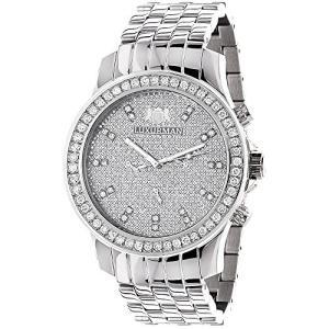 Mens Diamond Diamond Watch 2.5ctw of Diamonds by Luxurman|abareusagi-usa