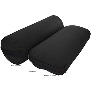 ヨガBean Products Yoga Bolster - Cotton Rectangle - Blackの商品画像|ナビ