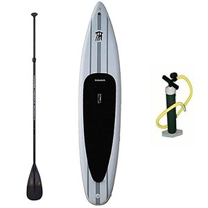 BD-TWR-EXP-PKG Tower Xplorer Inflatable 14' Stand Up Paddle Board - (8 Inches Thick) - Universal SUP Wide Stance - Premium SUP Bun|abareusagi-usa