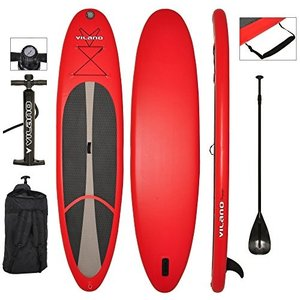 Vilano Voyager 11' Inflatable SUP Stand Up Paddle Board Package, 6