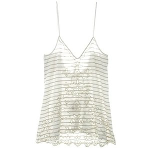 OB509763 X-Small Free People Womens Seafaring Embroidered Lace-Up Back Tank Top Ivory XS|abareusagi-usa