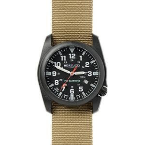 2a26ec8f2d 当店1年保証 ベルトゥッチBertucci Men's 13502 A-5P Illuminated Black Dial Khaki Nylon  Band Field Watch