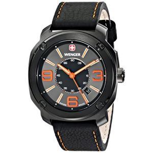 01.1051.107 Wenger Men's 01.1051.107 Escort Analog Display Swiss Quartz Black Watch|abareusagi-usa