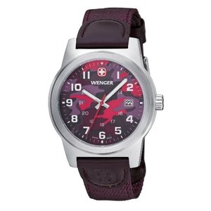010441110 Wenger Field Classic Multicolored Dial Nylon Strap Men's Watch 01.0441.110|abareusagi-usa