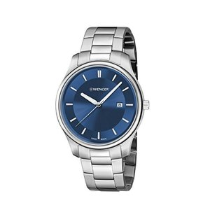 01.1441.117 Wenger Men's City Classic Swiss-Quartz Watch with Stainless-Steel Strap, Silver, 21 (Model: 01.1441.117)|abareusagi-usa