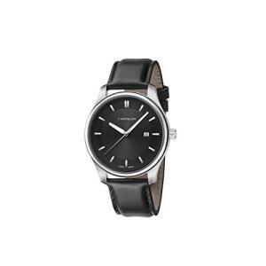01.1421.103 Wenger Men's City Classic Stainless Steel Swiss-Quartz Watch with Leather Calfskin Strap, Black, 17 (Model: 01.1421.10|abareusagi-usa