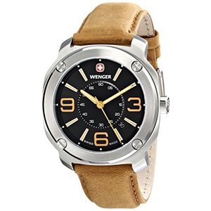 01.1051.102 Wenger Men's 01.1051.102 Escort Analog Display Swiss Quartz Brown Watch|abareusagi-usa