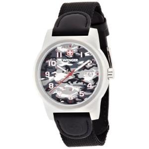010441108 Wenger Field Classic Grey Dial Nylon Strap Men's Watch 01.0441.108|abareusagi-usa