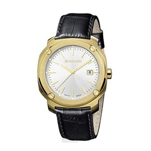 01.1141.113 Wenger Edge Index Silver Dial Leather Strap Men's Watch 01.1141.113|abareusagi-usa