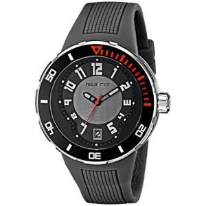 34-BGR-RGR Philip Stein Men's 34-BGR-RGR Extreme Grey Rubber Strap Watch|abareusagi-usa
