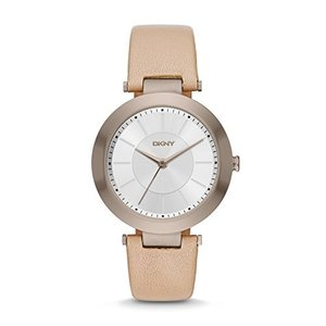 NY2459 DKNY Women's 'Stanhope' Quartz Stainless Steel and Beige Leather Casual Watch (Model: NY2459)|abareusagi-usa