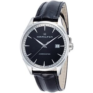 H32451731 Hamilton Jazzmaster Black Dial Mens Leather Watch H32451731|abareusagi-usa