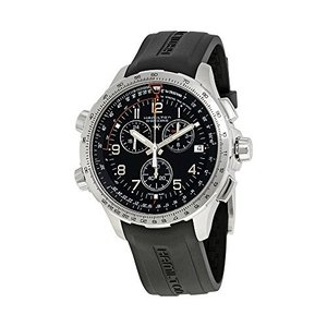 H77912335 Hamilton Khaki X-Wind Black Dial Silicone Strap Men's Watch H77912335|abareusagi-usa