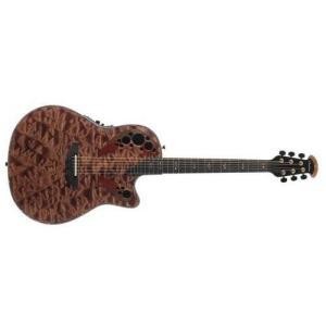 C2078AXP-TE Deep Contour Body Ovation ExoticWoods Collection 6 String Acoustic-Electric Guitar, Right, Tiger Eye, Deep Contour Bod abareusagi-usa