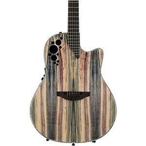 Null Ovation ExoticWoods Collection 6 String Deep Contour Body Acoustic Electric Guitar, Right, Dragon Wood, (C2078AXP-DW) abareusagi-usa