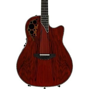 Null Ovation ExoticWoods Collection 6 String Deep Contour Body Acoustic Electric Guitar, Right, Olive Ash Burl, (C2078AXP-OAB) abareusagi-usa