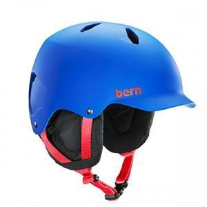 Bern M/L - 55.5 - 59cm BERN Junior Bandito Ski Snow Helmet Matte Cobalt Blue SB03EMCOB Medium Large|abareusagi-usa
