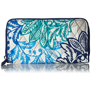 21206 One Size Vera Bradley Women's Signature Cotton RFID Georgia Wallet, Santiago, One Size|abareusagi-usa