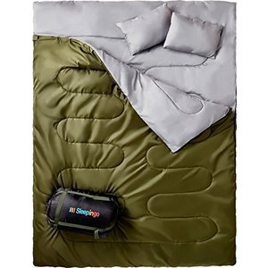 2 Person Sleepingo Double Sleeping Bag for Backpacking, Camping, Or Hiking, Queen Size XL! Cold Weather 2 Person Waterproof Sleepi abareusagi-usa