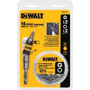 DWPVTC14 DEWALT DWPVTC14 14-piece Pivot Holder Set|abareusagi-usa