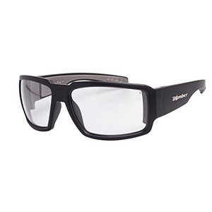 Bomber Sunglasses - Boogie Bomb Matte Black Frm / Clear Pc Safety Lens / Gray Foam|abareusagi-usa