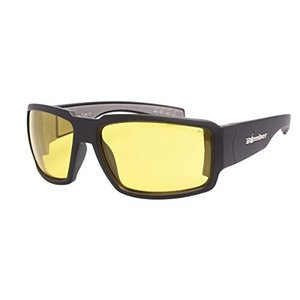 Bomber Sunglasses - Boogie Bomb Matte Black Frm / Yellow Pc Safety Lens / Gray Foam|abareusagi-usa