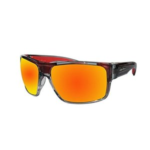 Bomber Sunglasses - Mana Bomb 2 Tn Crystal Smk Frm / Red Mirror Pc Safety Lens / Red Foam|abareusagi-usa