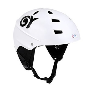 MonkeyJack CE Approved White XL 63-65cm Safety Helmet with Air Vents for Water Sport Canoeing Kayaking Wakeboarding Head & Ear Pro|abareusagi-usa