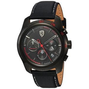 830446 Ferrari Men's PRIMATO Stainless Steel Quartz Watch with Nylon Strap, Black, 22 (Model: 830446) abareusagi-usa